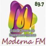 Logo da emissora Rádio Moderna 89.7 FM