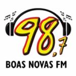 Logo da emissora Rádio Boas Novas 98.7 FM