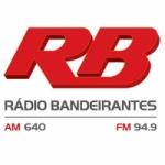 Logo da emissora Rádio Bandeirantes 640 AM 94.9 FM