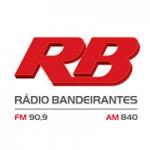 Logo da emissora Rádio Bandeirantes 840 AM 90.9 FM