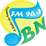 Logo da emissora Rádio Boa Nova 96.3 FM