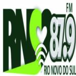 Logo da emissora Rio Novo Do Sul FM