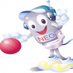 Logo da emissora N.E.R 100.5 FM Tai-Tung