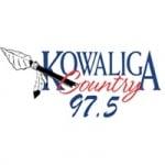 Logo da emissora WKGA 97.5 FM Kowaliga Country