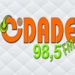 Logo da emissora Rádio Cidade 98.5 FM