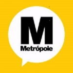 Logo da emissora Rádio Metropole
