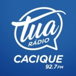 Logo da emissora Tua Rádio Cacique 92.7 FM