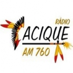 Logo da emissora Rádio Cacique 760 AM