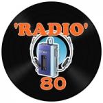 Logo da emissora Rádio R80 Curitiba