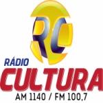 Logo da emissora Rádio Cultura 1140 AM  100.7 FM