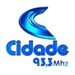 Logo da emissora Rádio Cidade  93.3 FM