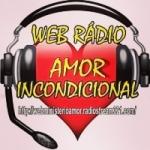 Logo da emissora Rádio Web Amor Incondicional