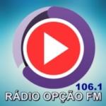 Logo da emissora Rádio Opção FM