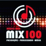 Logo da emissora Rádio Web Mix100