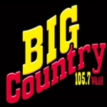 Logo da emissora WQAH 105.7 FM Big Country
