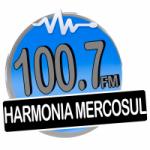 Logo da emissora Rádio Harmonia Mercosul 100.7 FM