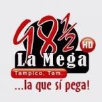 Logo da emissora Radio La Mega 98.5 FM