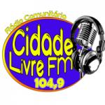Logo da emissora Rádio Cidade livre 104.9 FM