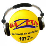Logo da emissora Rádio Gazeta 107.7 FM