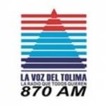 Logo da emissora La Voz del Tolima 870 AM