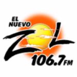 Logo da emissora El Nuevo Zol 106.7 FM