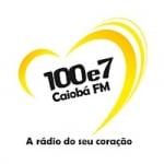 Logo da emissora Rádio Caiobá 100.7 FM
