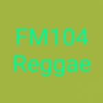 Logo da emissora Rádio FM 104 Reggae