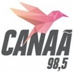 Logo da emissora Rádio Canaã 98.5 FM