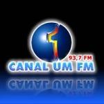 Logo da emissora Rádio Canal Um 93.7 FM