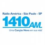 Logo da emissora Rádio América Canção Nova 1410 AM