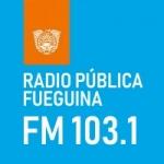 Logo da emissora Radio Publica Fueguina 103.1 FM