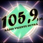 Logo da emissora Rádio Vicente Dutra 105.9 FM
