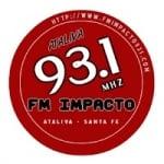 Logo da emissora Radio Impacto 93.1 FM
