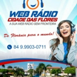 Logo da emissora Web Rádio Cidade Flores