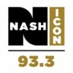 Logo da emissora Nash Icon 93.3 FM WWFF