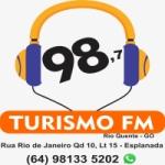 Logo da emissora Rádio Turismo 98.7 FM