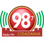 Logo da emissora Rádio Cidadania 98.7 FM