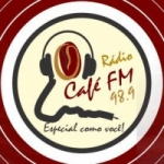 Logo da emissora Radio Café 98.9 FM