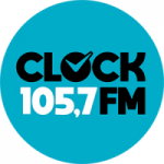 Logo da emissora Rádio Clock FM