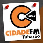 Logo da emissora Rádio Cidade 103.7 FM