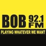 Logo da emissora KBBO 92.1 FM Bob