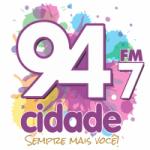 Logo da emissora Rádio Cidade 94.7 FM