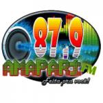 Logo da emissora Rádio Amaparí 87.9 FM