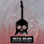 Logo da emissora Rádio Metal Heads