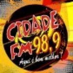 Logo da emissora Rádio Cidade 98.9 FM