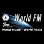 Logo da emissora Radio World 88.5 FM