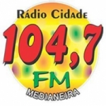 Logo da emissora Rádio Cidade 104.7 FM