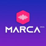 Logo da emissora Rádio Marca Brasil