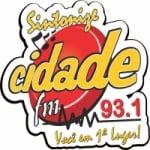 Logo da emissora Rádio Cidade 93.1 FM