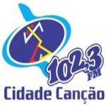 Logo da emissora Rádio Cidade Canção 102.3 FM